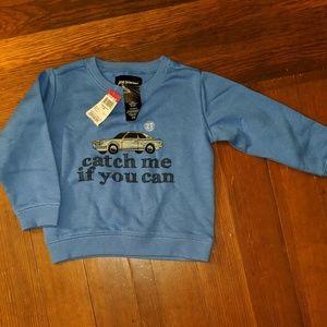 NWT Joe Boxer blue sweatshirt Catch Me car 2T